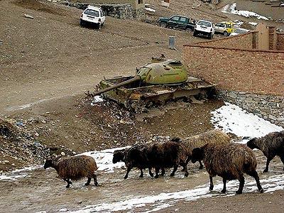 Old Russian tank in Kabul, 2009