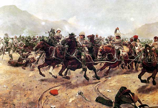 The British were repulsed by Afghans at the Battle of Maiwand, 1880