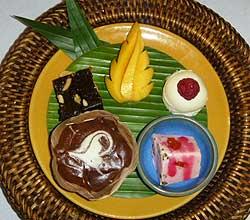 A tempting dessert sampler.