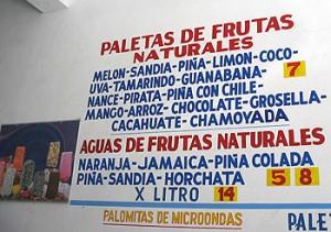 Different Paletas Flavors