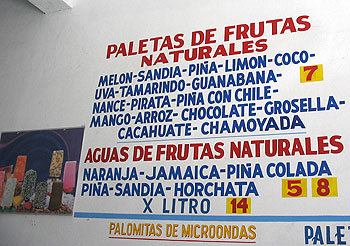 Different Paletas Flavors