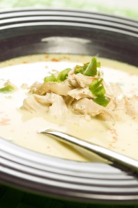 Cream of Jalapeño Soup with Chicken