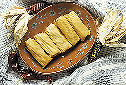 Tamales Awaiting the Sauce, by Chel Beeson