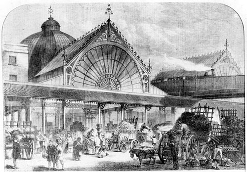 Borough Market, London, 1860
