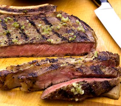 Argentinian Parilla with Chimichurri Sauce. Photo by Rick Browne.