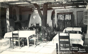 Patio of La Placita Restaurant, Old Town, 1940s