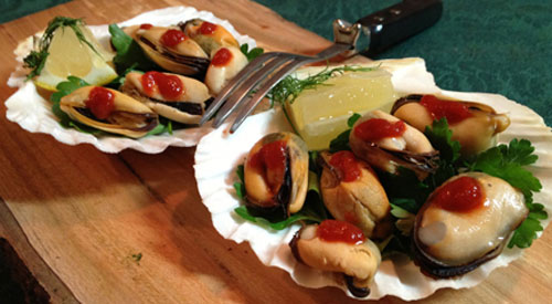 Smoked shellfish makes a classy, impressive appetizer