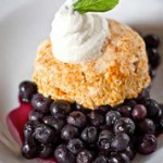 Blueberry Cobbler with Spicy Biscuits