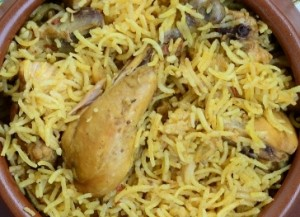 Pilau Kabuli (Chicken and Rice)