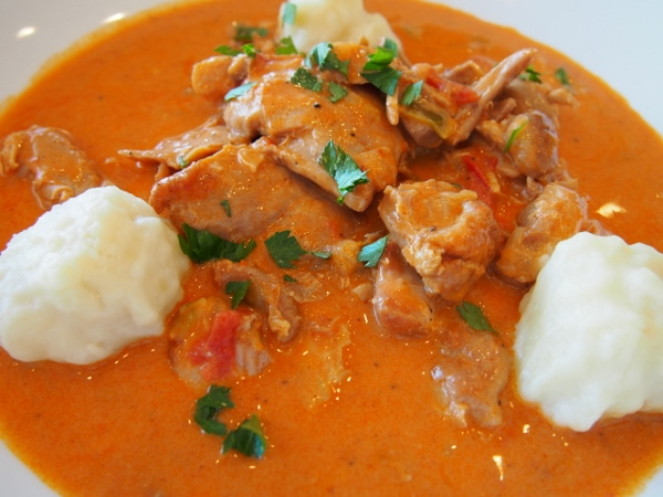 Chicken Paprika with Dumplings