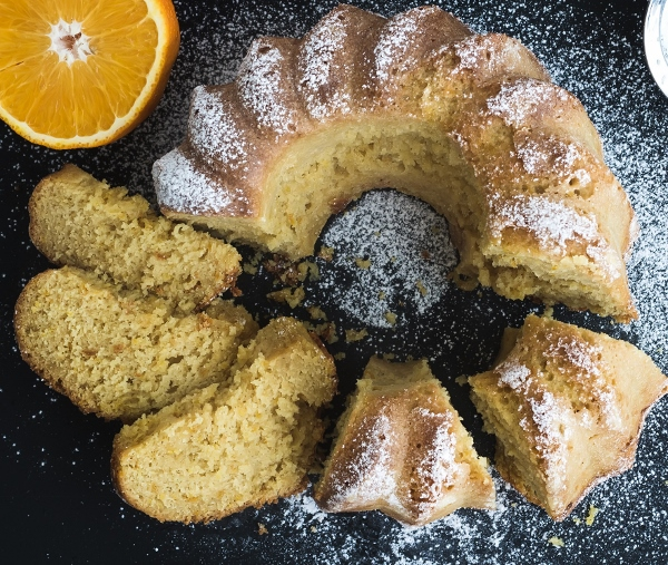 Mandarin Orange Walnut Piquin Cake