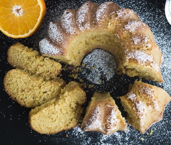 Mandarin Orange Walnut Piquin Cake