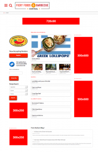 Fiery Foods & Barbecue Central Web Ads