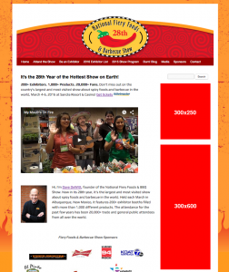 Fiery Foods Show Web Ads