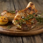 Grilled Maple-Mustard Pork Chops