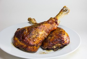 Mesquite-Grilled Turkey Legs with Jalapeño-Cilantro Lime Basting Sauce