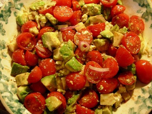 Perfectly Pungent Avocado-Tomato Salad