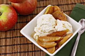 Smoked Apples Over Ice Cream (275x183)