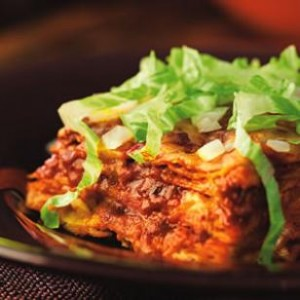 Stacked Red Chile Enchiladas