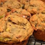 Banana-Pasilla Macadamia Nut Muffins