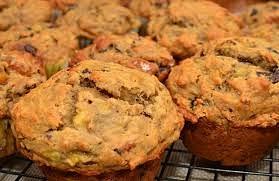 banana pasilla macadamia muffins