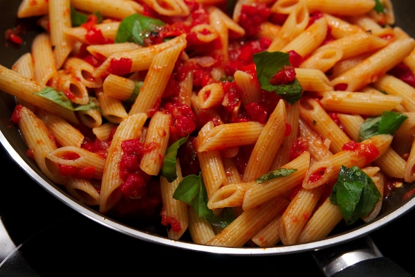 pasta arrabiatA WITH SAMBAL