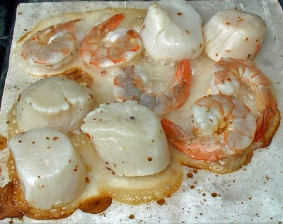 Shrimp and Scallops on the Block
