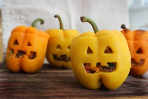 Bell Pepper Jack-O-Lanterns