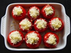 Mike's Zucchini-Stuffed Roasted Tomatoes