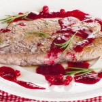 Roast Chicken Breasts with Cranberry-Horseradish Relish