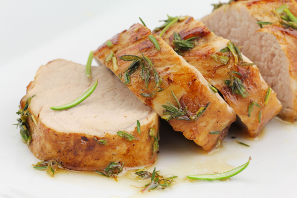 honey glazed pork medallions
