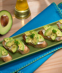 AvocadoTomato and Goat Cheese Toasts