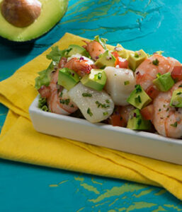 Shrimp and Scallop Ceviche with Avocado